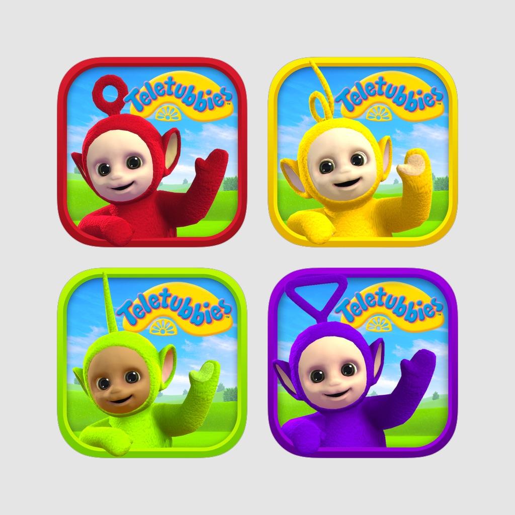 Teletubbies: Tinky Winky, Dipsy, Laa-Laa and Po