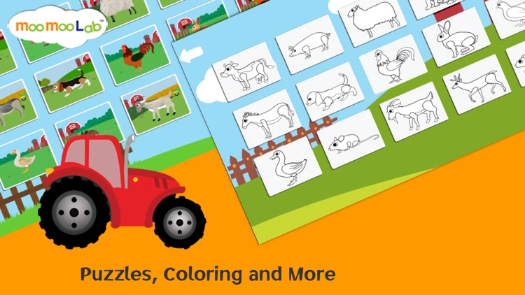 Farm Animals - Puzzles, Animal Sounds, and Activities for Toddler and Preschool Kids Full Version