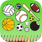 Sport Coloring Book: Learn to color and draw an athlete, football player, tennis and more icon
