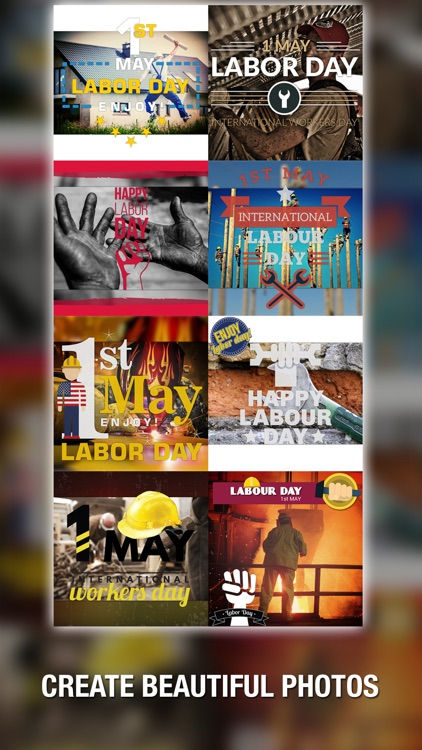 1st May Cam Labor & Workers Day Photo Editor – Add MayDay greetings text and sticker over picture