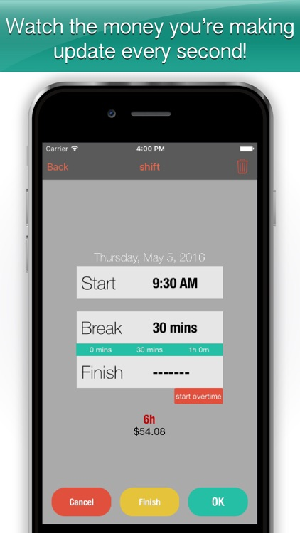 Worked Hours - hours tracker and organizer