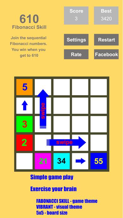 Tri-Sum 2048 - Fun & Cool Math Puzzle Addition Games including Fibonacci Numbers screenshot four