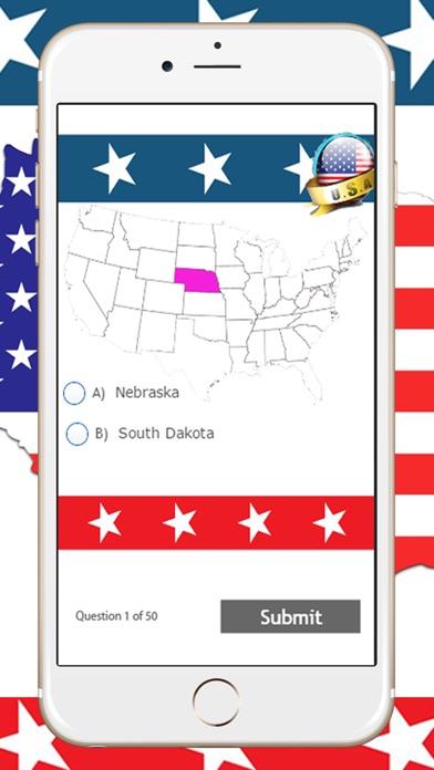 United States Map Quiz App