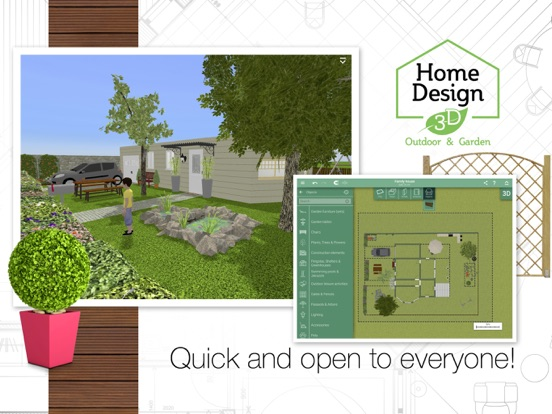 Screenshot #2 for Home Design 3D Outdoor&Garden