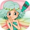 油漆仙女 - 公主和童话图画书