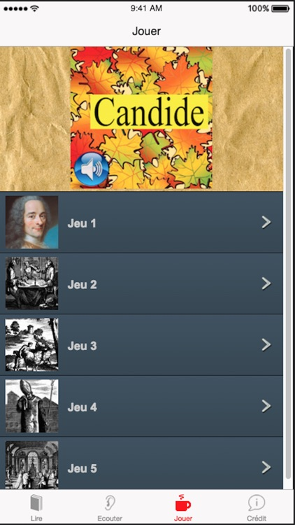 Candide (French), text + audio screenshot-3
