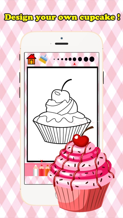 Bakery Cupcake Coloring Book Free Games for children age 1-10: Support your child's learning with drawing ideas, fun activities screenshot-3