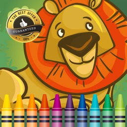 Zoo Animals Coloring Book Educational Toddler Game by Maneerat