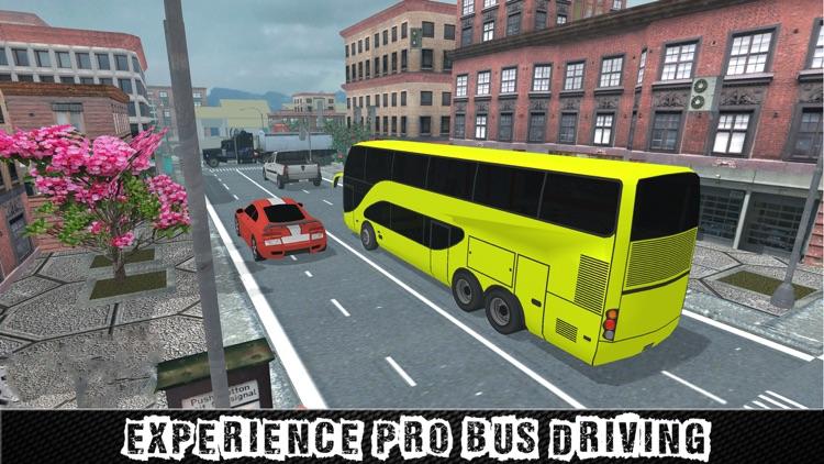 Real City Coach Bus Driver Simulator 3D screenshot-3