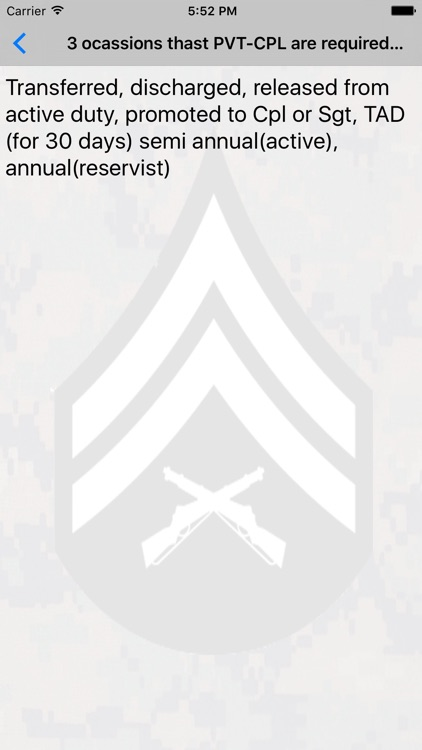 Corporals Course