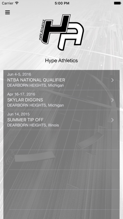Hype Athletics Events