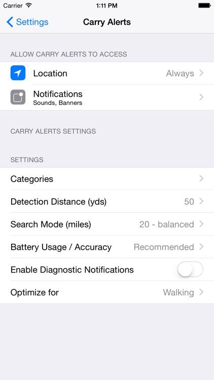 Carry Alerts screenshot-3