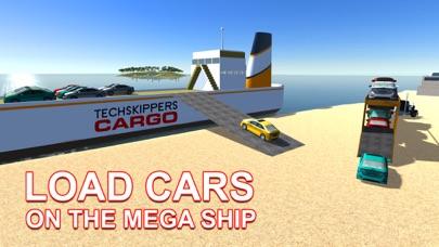 De carga transporte de automoviles nave - conducir camiones y navegar en barco grande en este juego de simulaciónCaptura de pantalla de2
