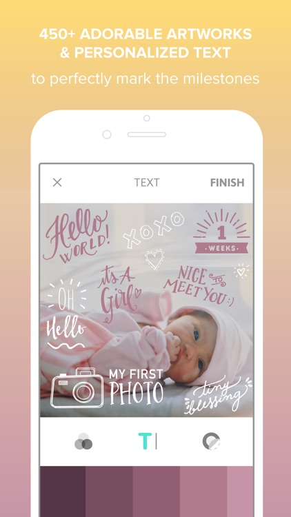 Little Nugget - Capture Pregnancy & Baby Pics app image