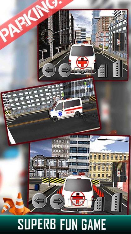 City Ambulance Parking Simulator - Test Your Driving Skill on Emergency Vehicle screenshot-3