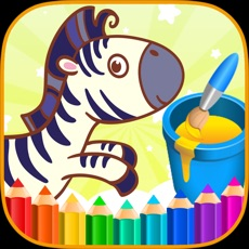 Activities of Coloring Book Animals Space