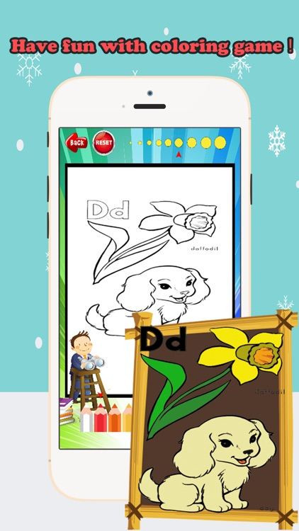 Coloring Book ABCs pictures: Finger drawing games screenshot-3