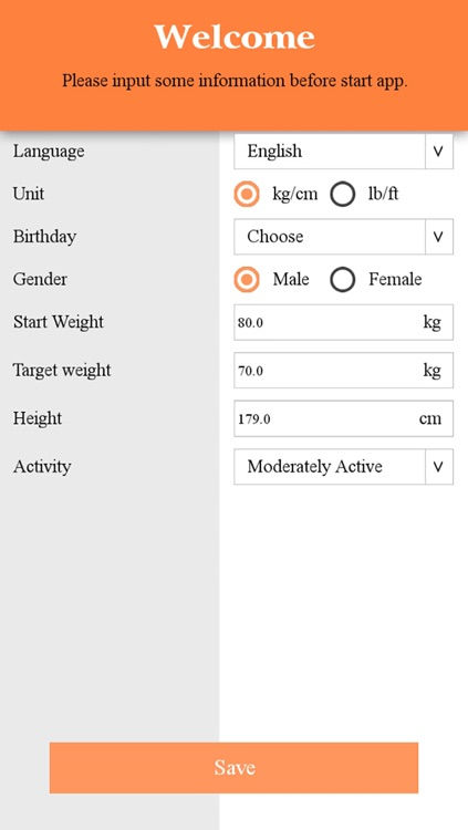 Weight, BMI Tracker