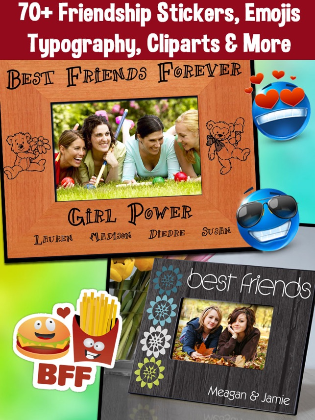 BFF Friends Photo Frames - Friendship Photo Editor on the App Store