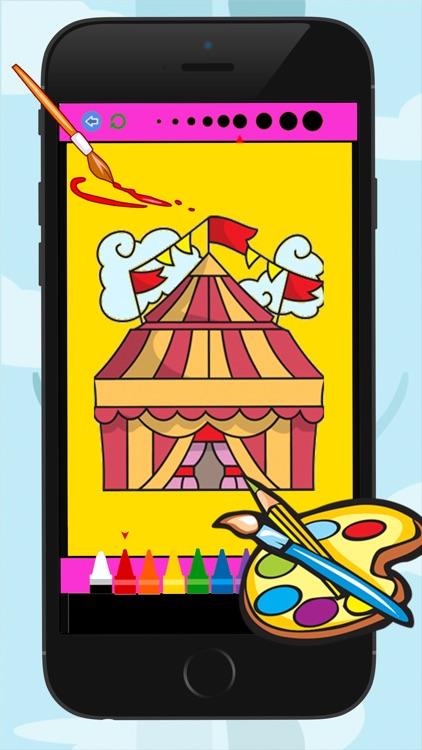 Circus Coloring Book for Kid Games screenshot-4