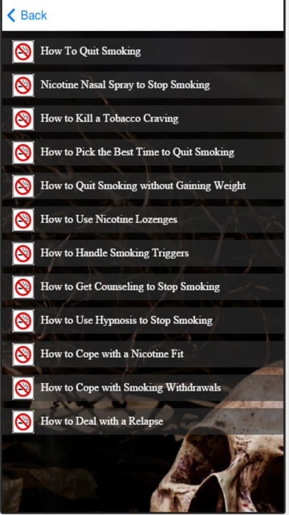 Quit Smoking Now - Self Help Tips To Stop Smoking screenshot-3