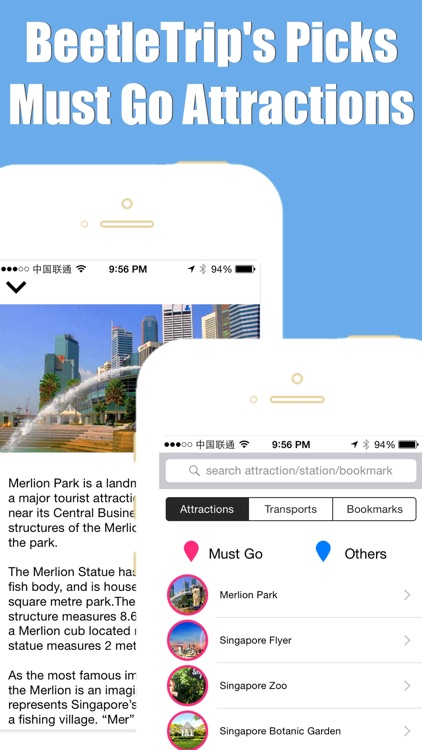 Singapore travel guide with offline map and metro transit by BeetleTrip screenshot-3