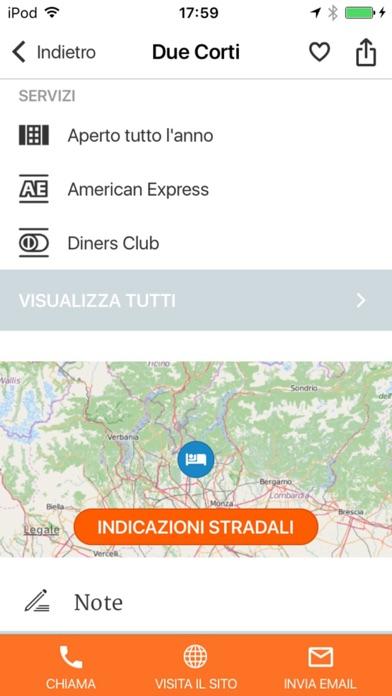 Screenshot of Lombardia – Dormire e Mangiare Touring4