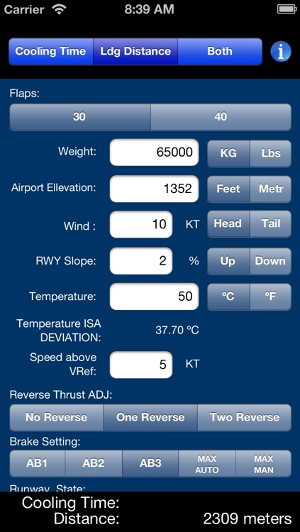 737-800 Performance Calculations screenshot-2