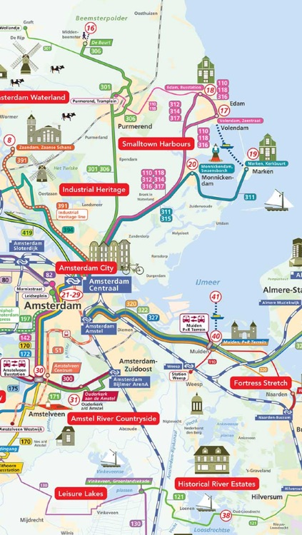 Amsterdam Map offline- Pocket Netherland Holland Amsterdam Travel Guide with offline GVB Amsterdam Metro Map, Amsterdam Bus Routes Map, NS Trains, Amsterdam Maps, Amsterdam Street maps screenshot-3