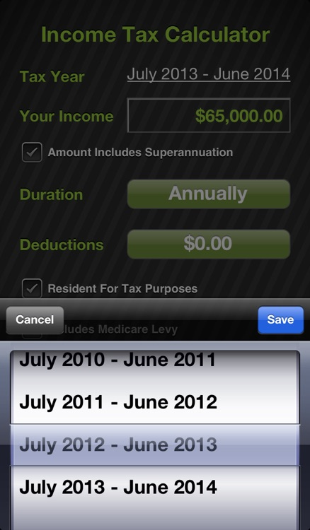 TaxApp - Australian Income Tax Calculator screenshot-1