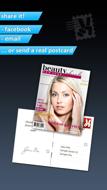 Photo2Cover HD - Create your own magazine cover screenshot-3