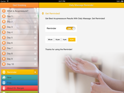 Stop Smoking Instantly With Chinese Massage Points - FREE Acupressure Trainer screenshot