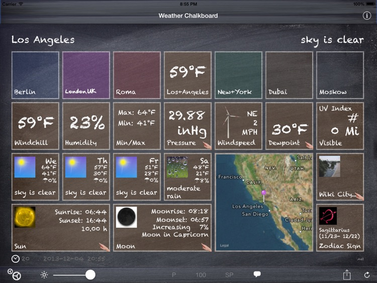 Weather Chalkboard Lite screenshot-3
