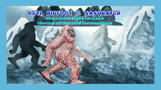 Yeti, Bigfoot & Sasquatch : The winter fight to reach the top of the cold ice mountain - Free Edition screenshot one