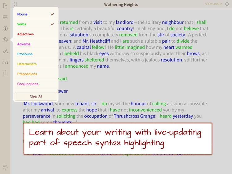 Phraseology - Text Editor with Writing Tools