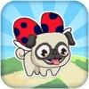 Le Pugbug Fly! -  Adventure Run of a Tiny Flying Puppy Pug Ladybug