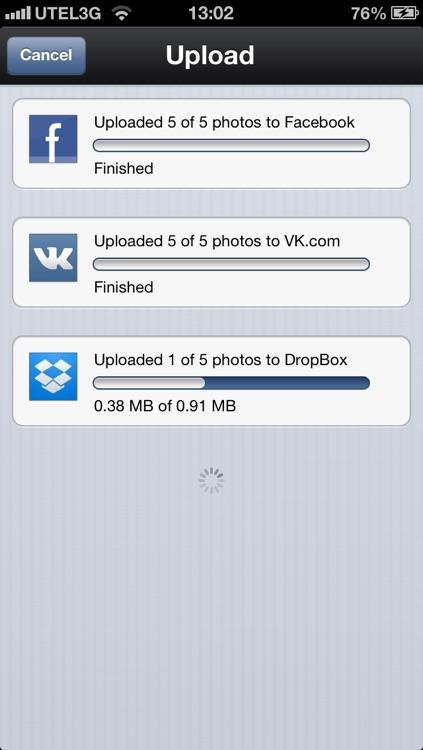 Ultimate Photo Uploader for social networks screenshot-3