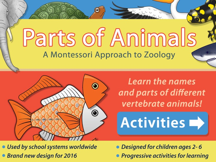 Parts Of Animals (Vertebrates) LITE - A Montessori Approach to Zoology HD