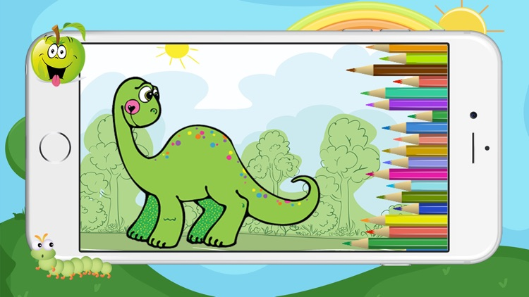 Dino Dinosaur Coloring Book - Cute Drawings Pages And Painting Games ...