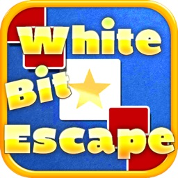 White Bit Escape - Drag to Survive from Red Enemy Chase and Attack