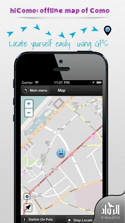 Como Offline Map from hiMaps:hiComo