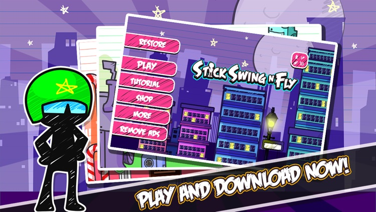 Stick Swing N Fly - Multiplayer Tight Rope StickMan Game