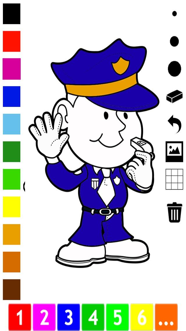 活動 圖畫書 的 職業 兒童: 學畫畫 與許多圖片屏幕截圖1
