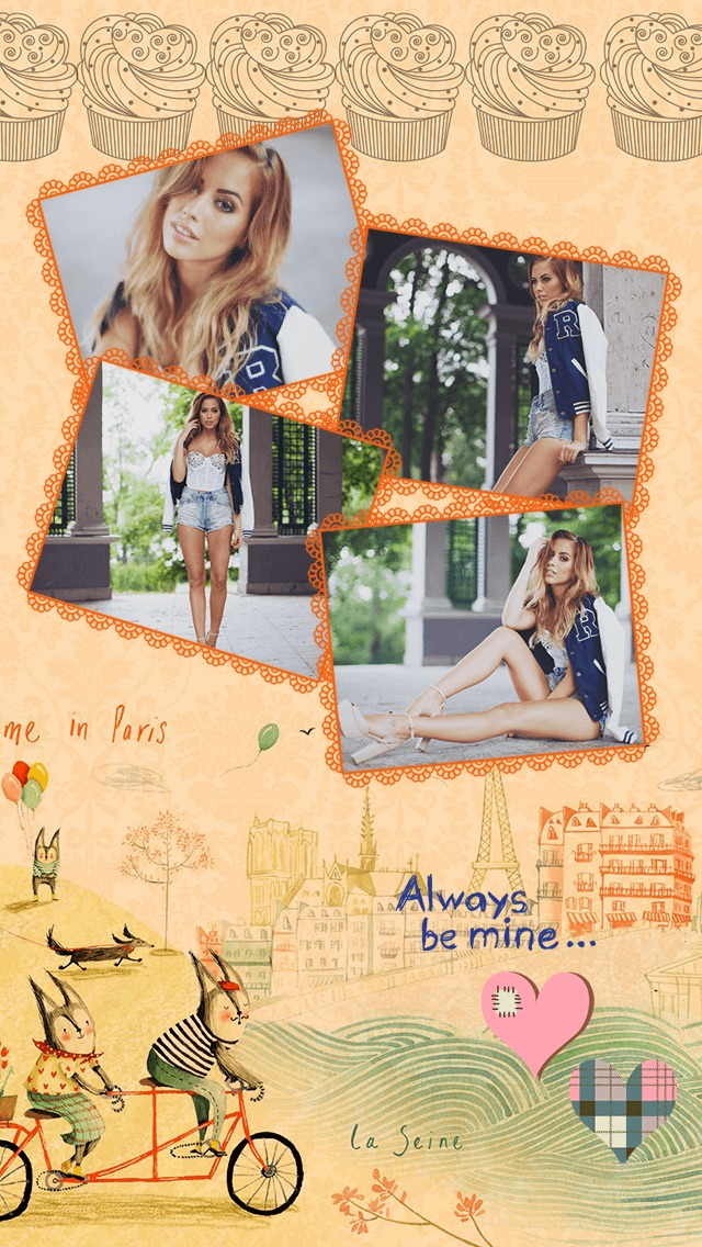 Paris Cam - The Chic arty love Foto Collage Kamera for a beautiful scrapbook selfies pic in France-2