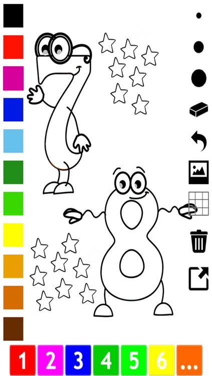 A Numbers Coloring Book for Toddlers: Learn to color and write 1-10 screenshot-3