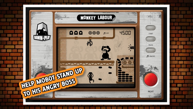 Monkey Labour - 80s handheld LCD retro game screenshot-0