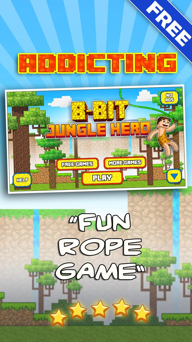 8 Bit Jungle Hero - Jump-y Pixel People Adventure Land Saga 1.0 IOS