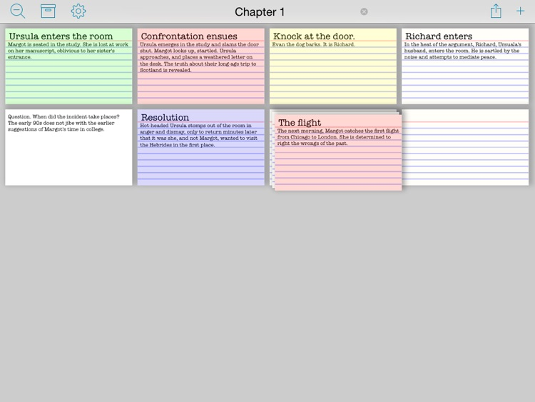 Index Card Board for iPad - Organize cards & brainstorm on a corkboard