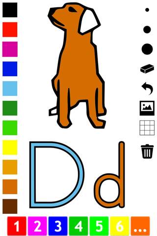 ABC Coloring Book for Toddlers: Learn to color and write the English letters of the alphabet screenshot 2