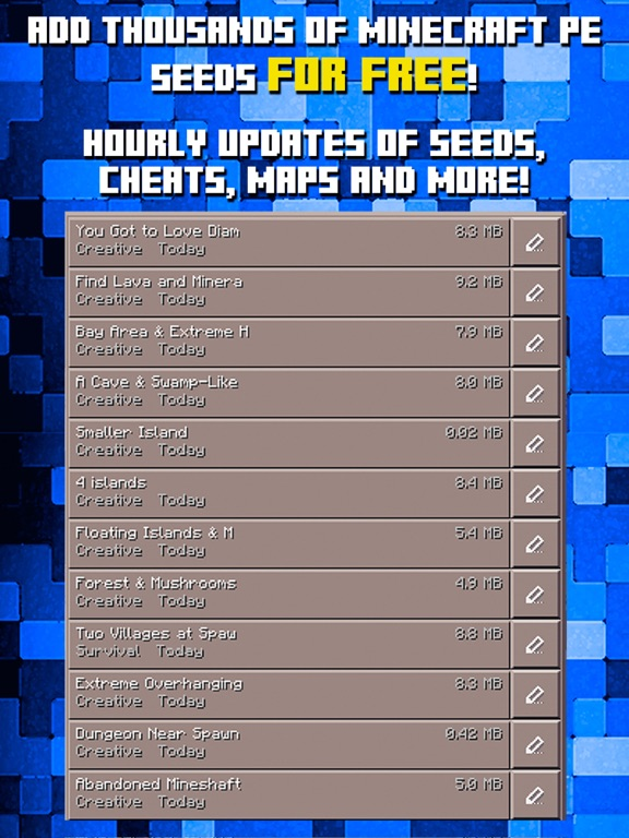 Village seeds for minecraft pocket edition minecraft.